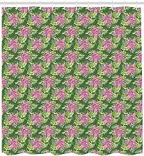 ABAKUHAUS Orchideen Duschvorhang, Tropische Blumen