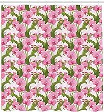 Abakuhaus Orchideen Duschvorhang, Wilde Blumen