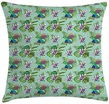 ABAKUHAUS Orchideen Kissenbezug, Hummingbird