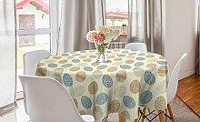 ABAKUHAUS Ostern Runde Tischdecke, Blumen, Kreis