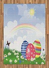 ABAKUHAUS Ostern Teppich, Frühlingswiese mit