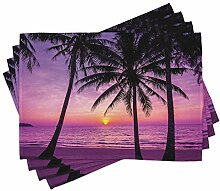 ABAKUHAUS Ozean Platzmatten, Palmen Silhouette bei