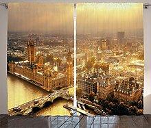 ABAKUHAUS Panorama Rustikaler Gardine, London