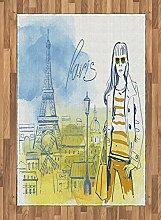 Abakuhaus Paris Teppich, Mädchen am Eiffelturm,