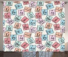 ABAKUHAUS Periodensystem Rustikaler Vorhang,