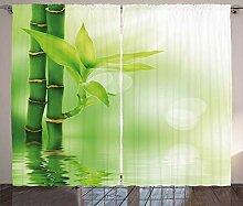 ABAKUHAUS Pflanze Rustikaler Vorhang, Bambus aus