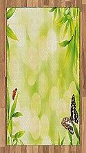 Abakuhaus Pflanze Teppich, Tiere auf Bambus,