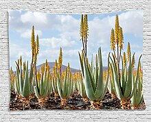 ABAKUHAUS Pflanze Wandteppich, Aloe Vera Plantage,