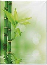 ABAKUHAUS Pflanze Wandteppich, Bambus aus Wasser