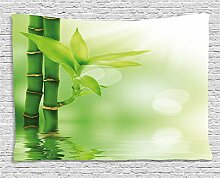 ABAKUHAUS Pflanze Wandteppich, Bambus aus Wasser,