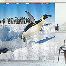 ABAKUHAUS Pinguin Duschvorhang, Detaillierte