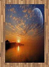 ABAKUHAUS Platz Teppich, Skyline mit Planeten