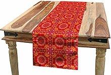 ABAKUHAUS Red Mandala Tischläufer, Orientalische