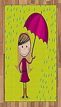 Abakuhaus Regen Teppich, Kleines Mädchen unter