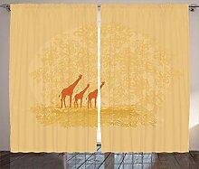 ABAKUHAUS Retro Rustikaler Vorhang, Retro Safari