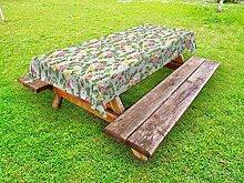 ABAKUHAUS Romantisch Outdoor-Tischdecke, Englisch