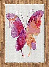 Abakuhaus Rosa Teppich, Schmetterling mit