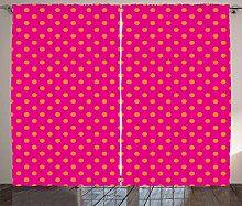 ABAKUHAUS Rosa und orange Rustikaler Vorhang,
