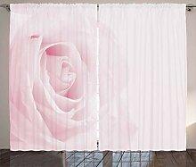 ABAKUHAUS Rose Rustikaler Vorhang, Schließen Sie