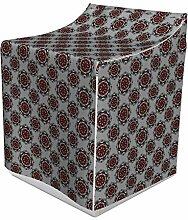 ABAKUHAUS Rot und Schwarz Waschmaschienen und