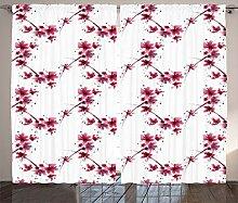 ABAKUHAUS rot-Weiss Rustikaler Vorhang,