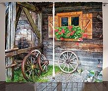 ABAKUHAUS Rustikal Rustikaler Vorhang, Bauernhaus