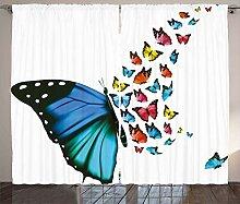ABAKUHAUS Schmetterling Rustikaler Gardine,