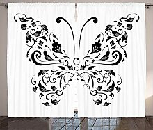 ABAKUHAUS Schmetterling Rustikaler Gardine, Swiril