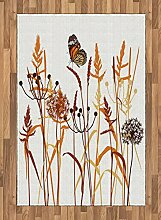 ABAKUHAUS Schmetterling Teppich, Zusammensetzung