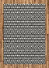 ABAKUHAUS Schwarz und weiß Teppich, Rechtecke