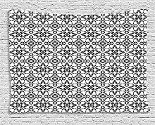 ABAKUHAUS Schwarz und weiß Wandteppich,