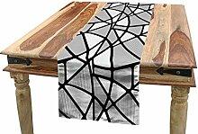 ABAKUHAUS Schwarz-Weiss Tischläufer, Geometrische