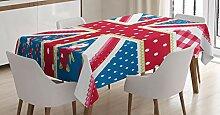 ABAKUHAUS Shabby Chic Tischdecke, Britische Flagge