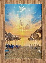 ABAKUHAUS Sommer Teppich, Sandstrand mit