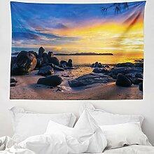 ABAKUHAUS Sonnenuntergang Wandteppich Meeres