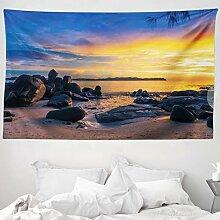 ABAKUHAUS Sonnenuntergang Wandteppich und