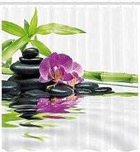 ABAKUHAUS Spa Duschvorhang, Zen-purpurrote