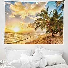 ABAKUHAUS Strand Wandteppich, Tropische Sandküste