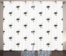 ABAKUHAUS Strauß Rustikaler Vorhang, Baby Birds