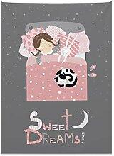 ABAKUHAUS Süße Träume Wandteppich, Mädchen mit
