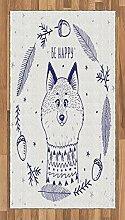 ABAKUHAUS Tier Teppich, Fuchs mit Herzen und