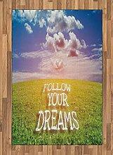 ABAKUHAUS Traum Teppich, Green Field mit Open Sky,