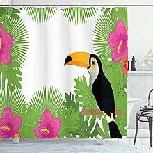 ABAKUHAUS Tropisch Duschvorhang, Exotische