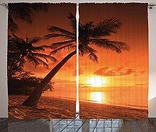 ABAKUHAUS Tropisch Rustikaler Vorhang,
