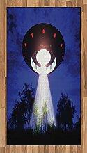 ABAKUHAUS UFO Teppich, Nachtlandschaft mit Alien