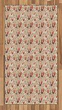 ABAKUHAUS Vögel Teppich, Hühner mit roten