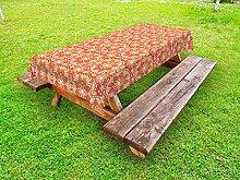 ABAKUHAUS Volk Outdoor-Tischdecke, Floral Deckchen