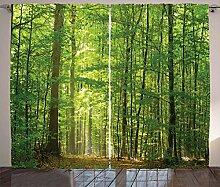 ABAKUHAUS Wald Rustikaler Vorhang, Laubwald
