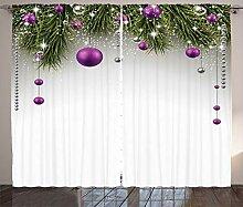 ABAKUHAUS Weihnachten Rustikaler Gardine, Baum,