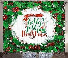 ABAKUHAUS Weihnachten Rustikaler Gardine,